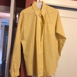 Yellow  Brooks Brothers men's dress shirt